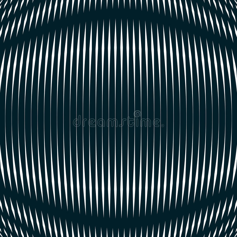 Optical background with monochrome geometric lines. Moire vector illustration