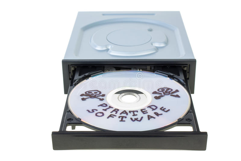 Optical Disk Drive With Disk Royalty Free Stock Photos