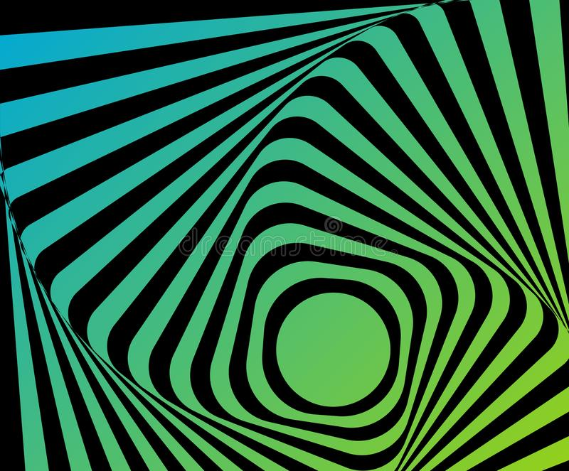 Optical distorted illusion vector illustration