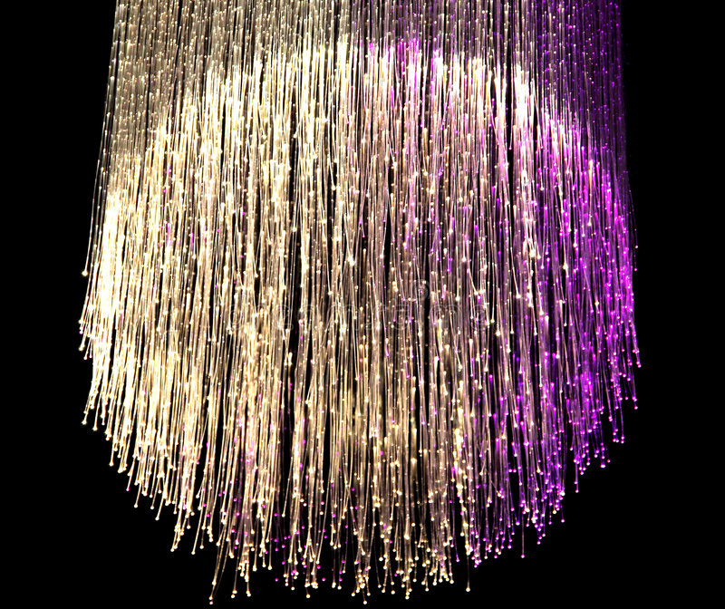 Optical fiber lamp stock images