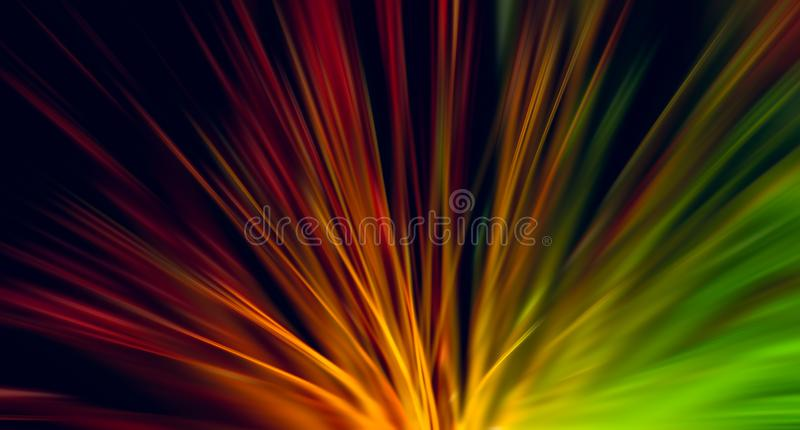 Optical fiber network cable, radial blur effect stock image