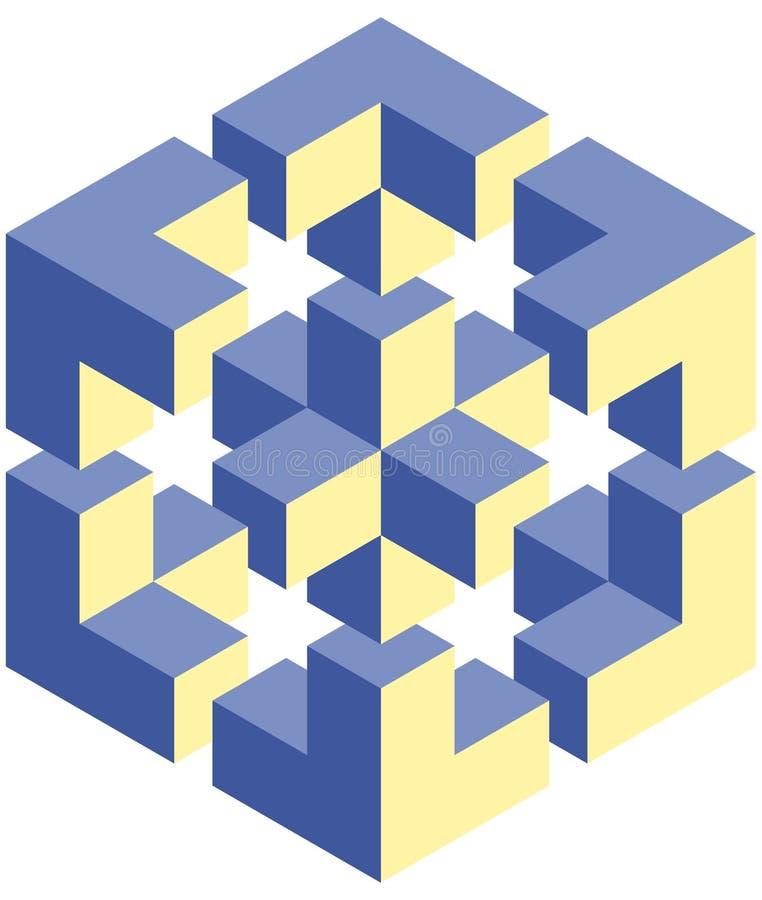 Download Optical illusion stock vector. Image of geometric, item - 28323932