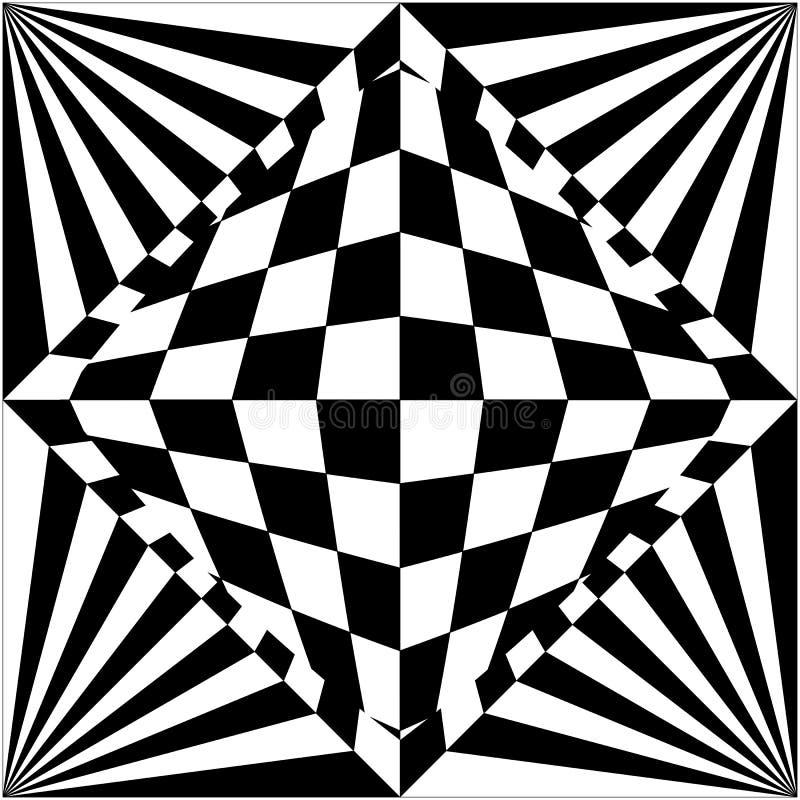 Optical illusion background black and white royalty free stock image