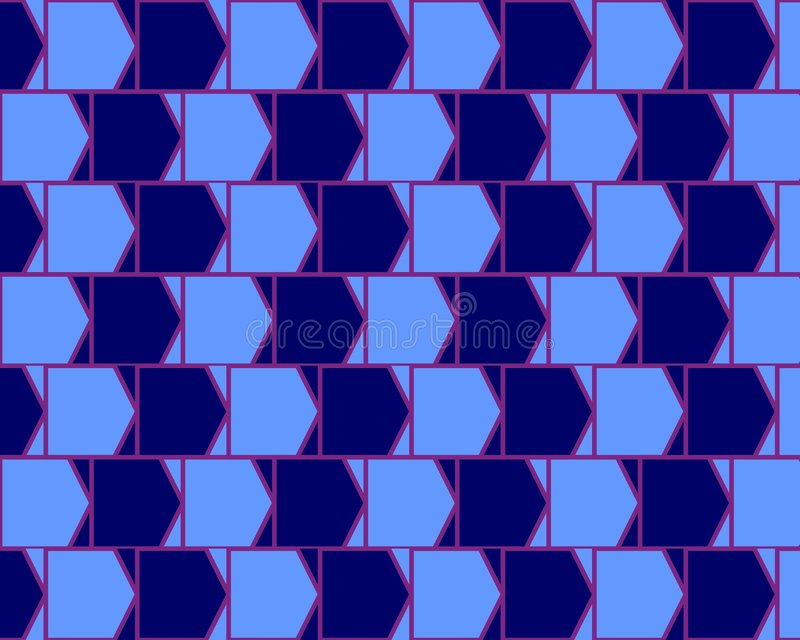 Download Optical Illusion Cafe Wall Variant  Cyan And Blue Stock Illustration - Image: 5216932