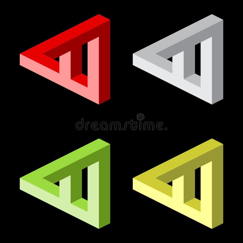 Free Optical Illusion, Colorful Blocks Royalty Free Stock Photo - 22581195