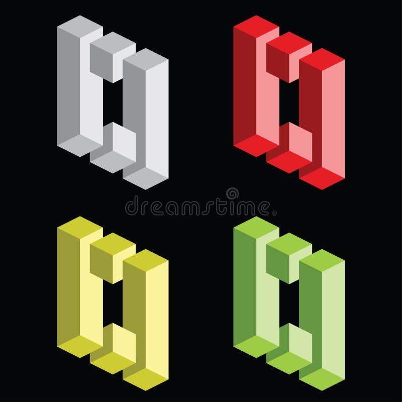 Free Optical Illusion, Colorful Blocks Stock Image - 22775151