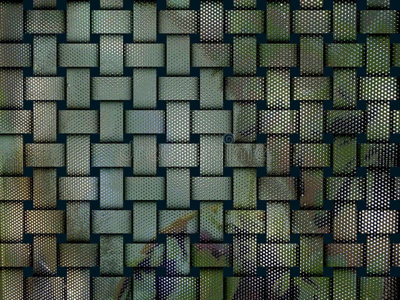 Optical illusion crystal grid background texture stock image