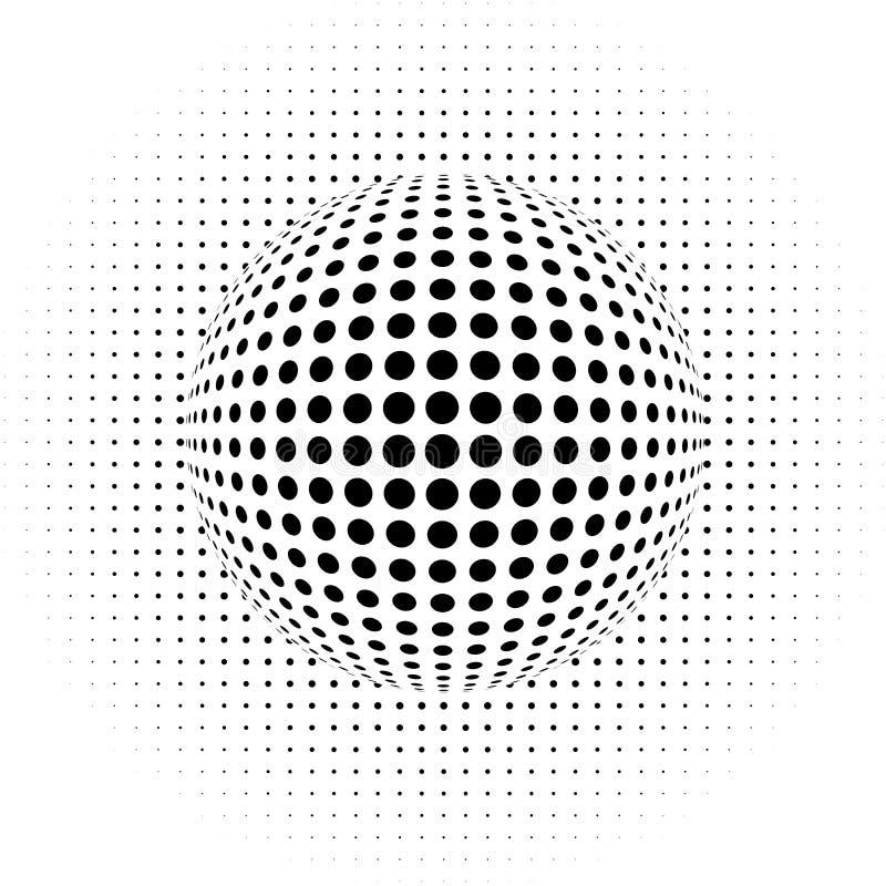 Optical illusion - dots vector illustration