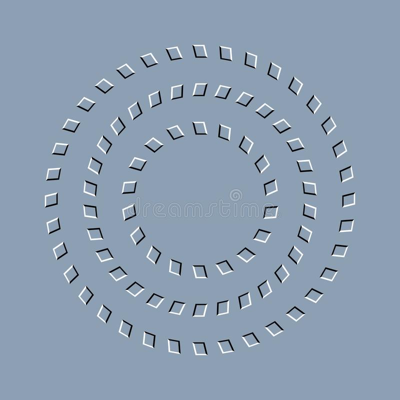 Free Optical Illusion Effect, Op Art Vector Abstract Background. Royalty Free Stock Images - 114756659