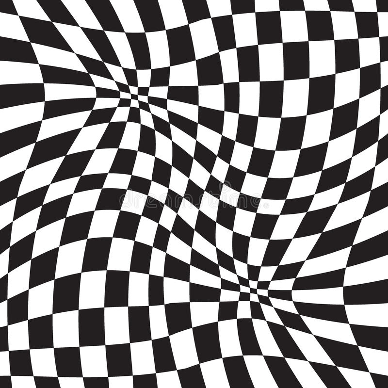 Optical illusion geometric background vector illustration