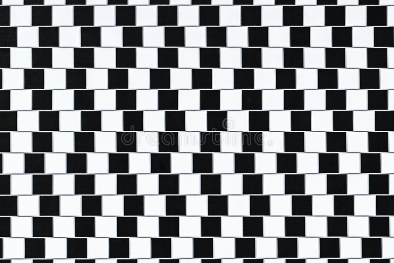 Optical Illusion Lines. Lines are parallel but seem to be slanted - optical illusion royalty free stock photography