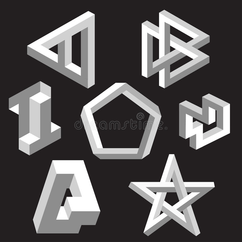 Free Optical Illusion Symbols. Vector Illustration. Royalty Free Stock Image - 26435746
