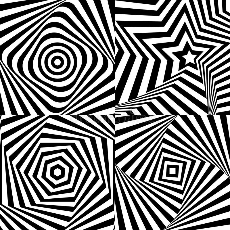 Download Optical Illusion With Texture Stock Vector - Image: 41245383