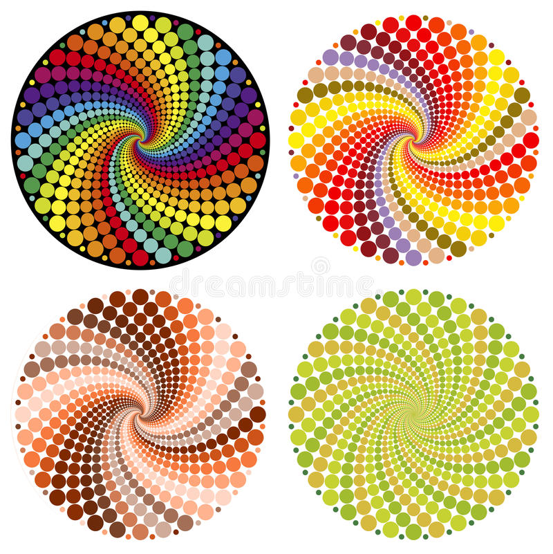 Optical illusion (Vector). Colorful Optical illusion Spin Cycle can be used as background stock illustration
