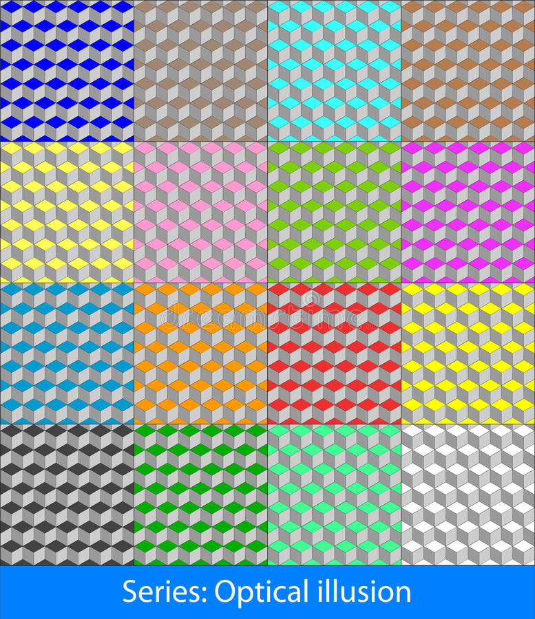 Optical illusions: Cubes royalty free stock image