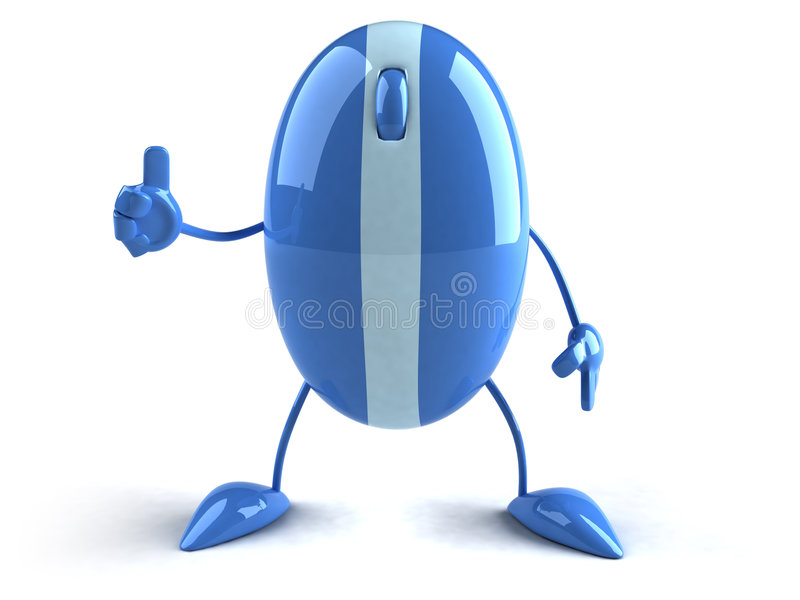 Optical mouse. Fun Optical mouse, 3d generated picture royalty free illustration