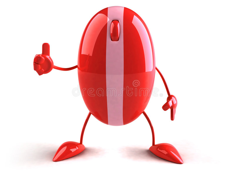 Optical mouse. Fun Optical mouse, 3d generated picture stock illustration