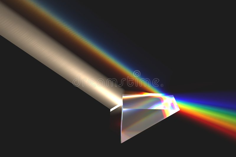 Download Optical prism with rainbow stock illustration. Illustration of spectrum - 5735948