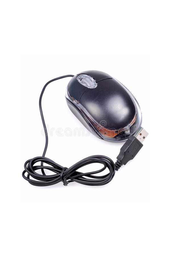 Optical scroll mouse stock photo