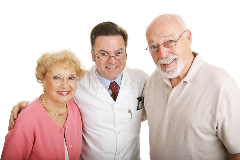 Optical Series - Couple & Optometrist Stock Photo