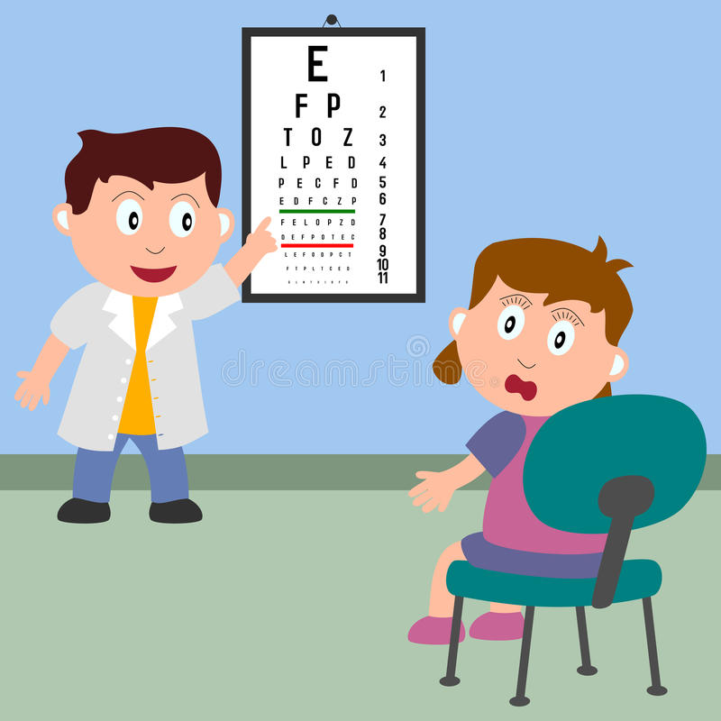 optician девушки иллюстрация штока