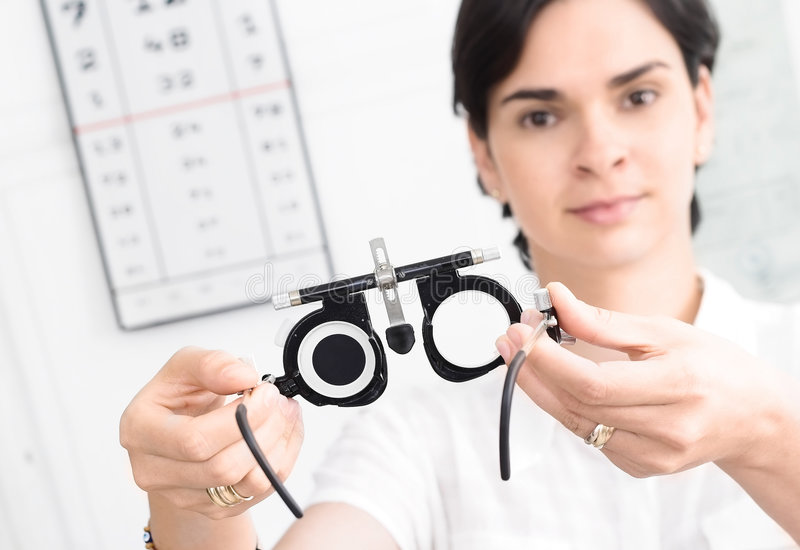 At the Optician royalty free stock images