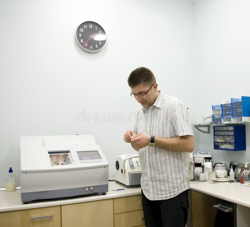 Free Optician At Work. Stock Images - 2189814