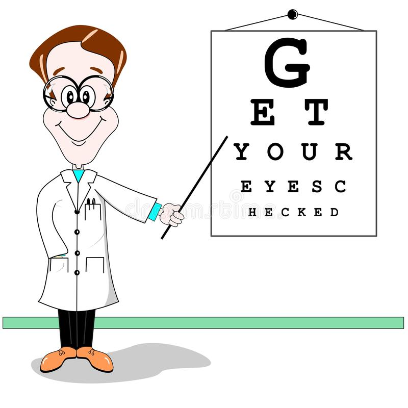 Download Optician eye test cartoon stock vector. Image of drawing - 21243704