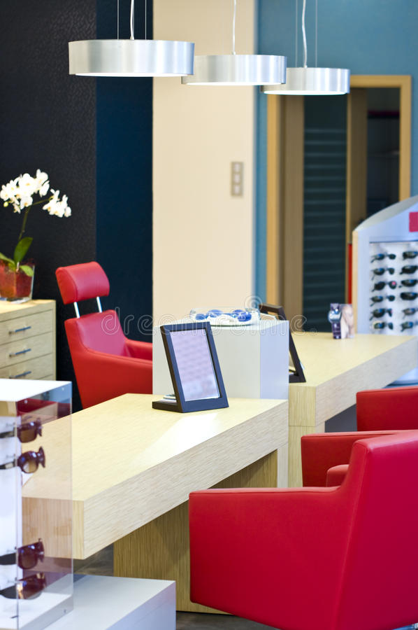 Download Optician Shop stock image. Image of desk, chairs, glasses - 10970311