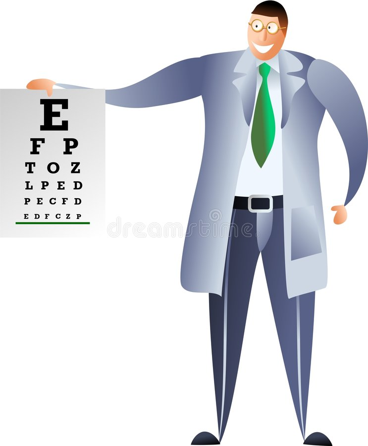 Opticien stock illustratie