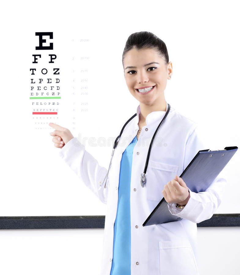 Opticien/Optometrist royalty-vrije stock foto