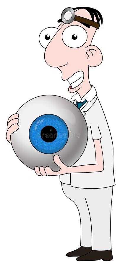 optiker stock illustrationer
