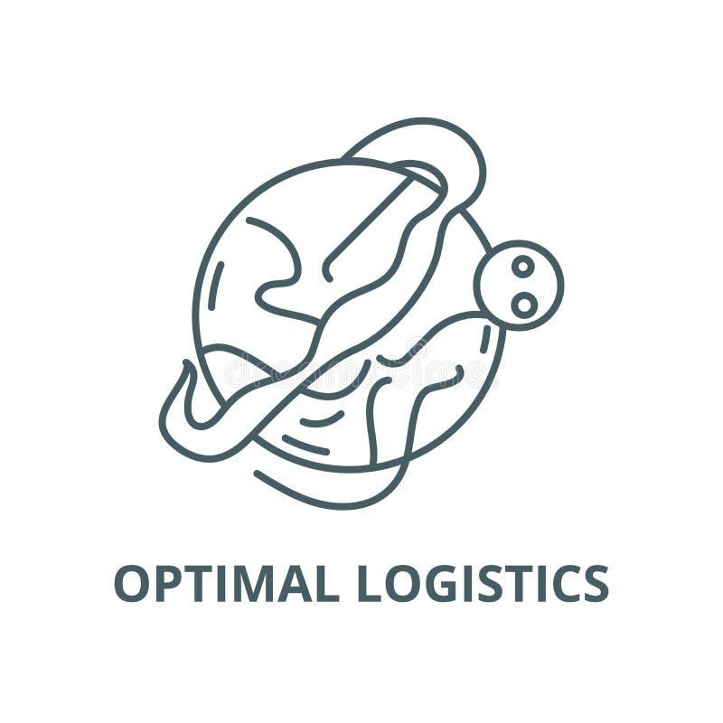 Optimal logistics vector line icon, linear concept, outline sign, symbol royalty free illustration