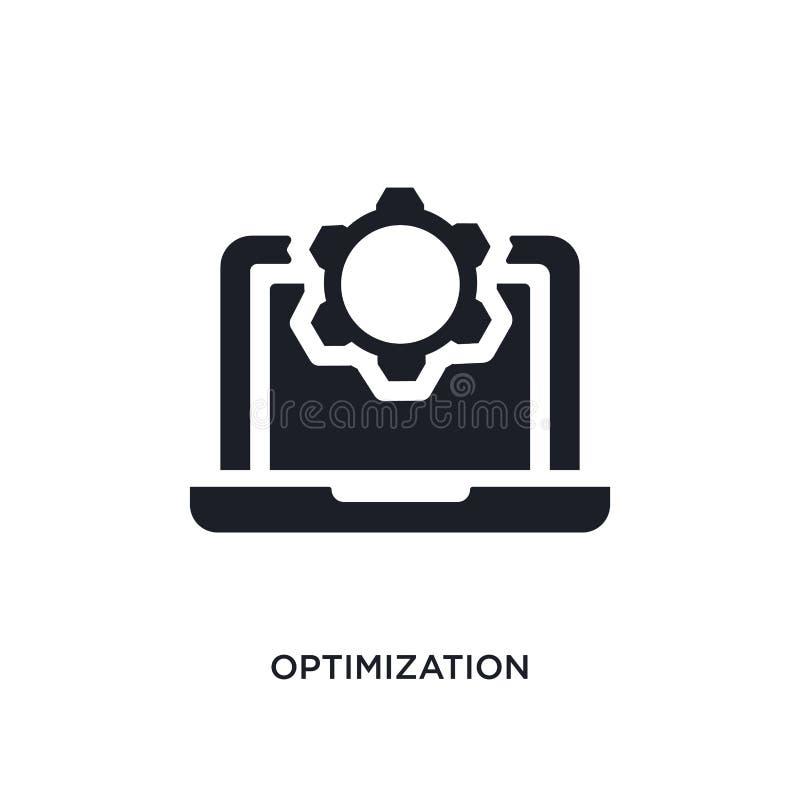 optimalisering geïsoleerd pictogram eenvoudige elementenillustratie van de pictogrammen van het programmeringsconcept het tekensy vector illustratie