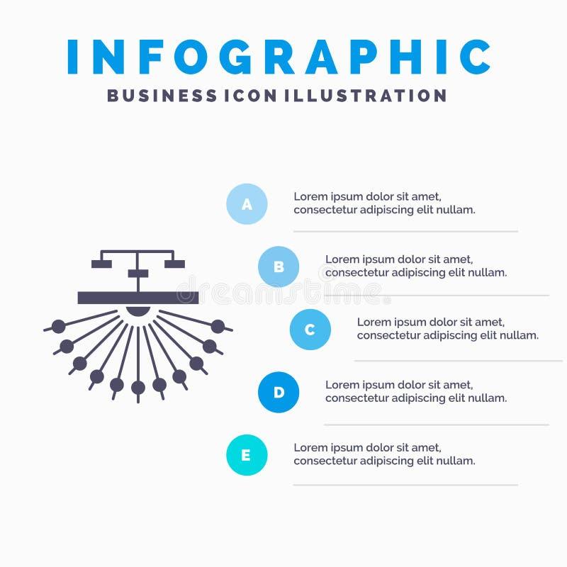 optimalisering, plaats, plaats, structuur, het Malplaatje van Webinfographics voor Website en Presentatie GLyph Grijs pictogram m stock illustratie