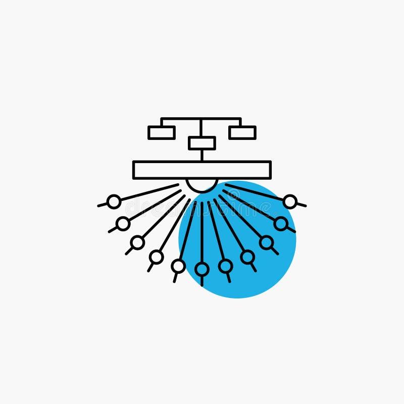 optimalisering, plaats, plaats, structuur, het Pictogram van de Weblijn stock illustratie
