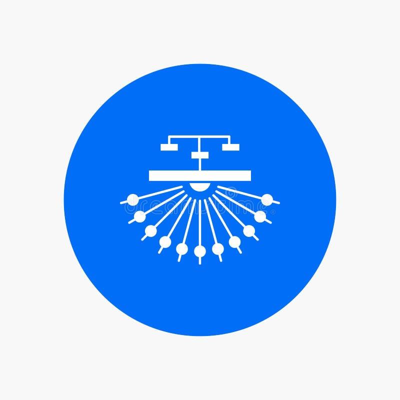 optimalisering, plaats, plaats, structuur, Pictogram van Web het Witte Glyph in Cirkel Vectorknoopillustratie royalty-vrije illustratie