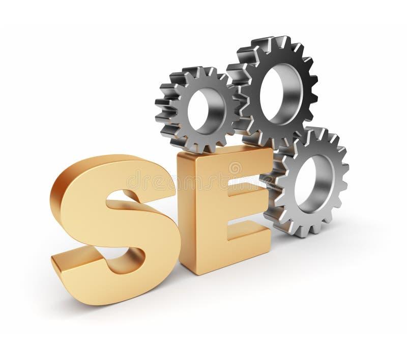 Optimalisering SEO. 3D illustratie. Geïsoleerd vector illustratie