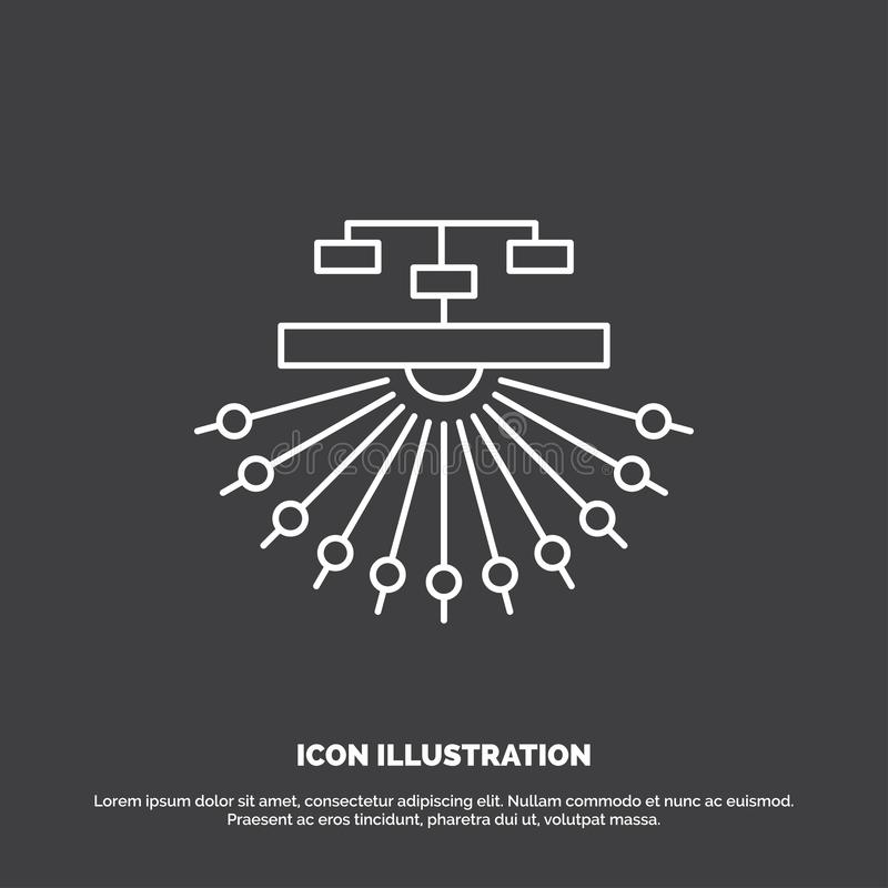 Optimierung, Standort, Standort, Struktur, Netz-Ikone Linie Vektorsymbol f?r UI und UX, Website oder bewegliche Anwendung vektor abbildung
