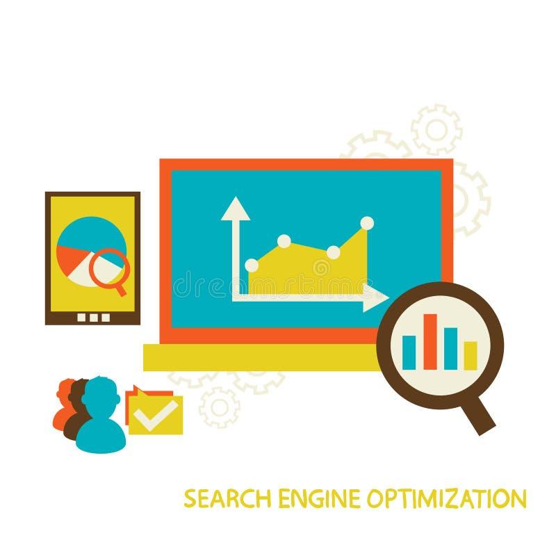 Optimisation de moteur de recherche illustration stock