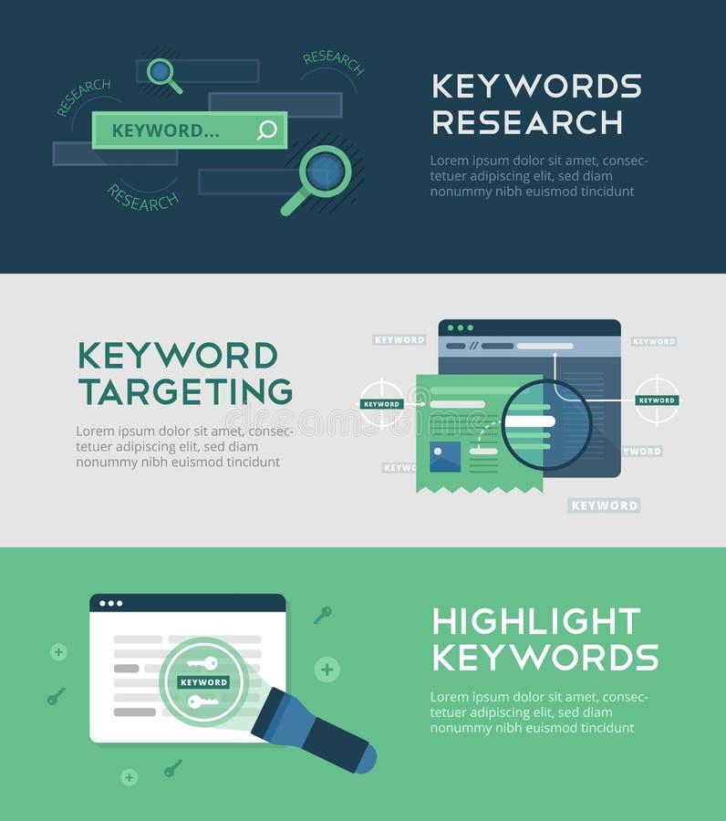 Optimisation de mots-clés illustration stock