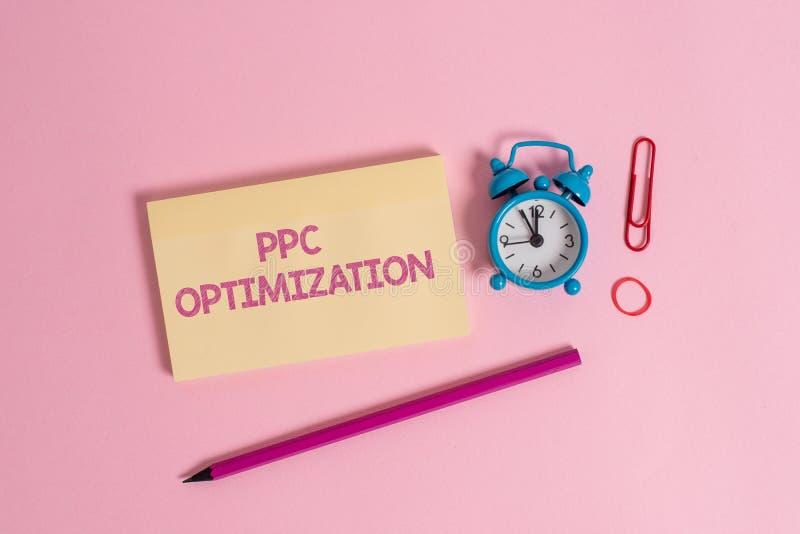 Optimisation de PPC des textes d'?criture de Word Concept d'affaires pour l'am?lioration de la plate-forme de moteur de recherche images stock