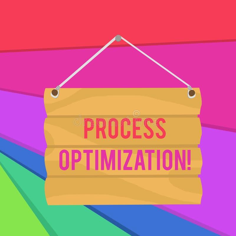 Optimisation de processus des textes d'?criture de Word Le concept d'affaires pour l'efficacité d'organismes Improve maximisent l illustration stock