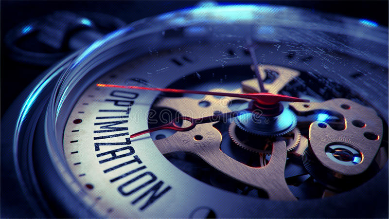 Optimisation sur le visage de montre de poche blanc au moment de l'exécution d'isolement par concept de fond photo libre de droits