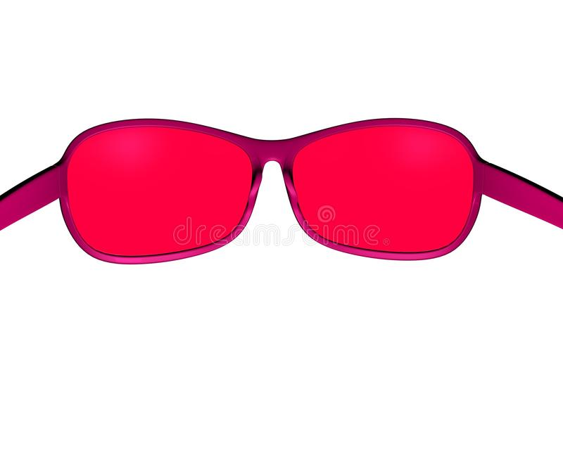 Optimism, Positive Thinking Concept Illustration With Pink Sunglasses Stock Photography