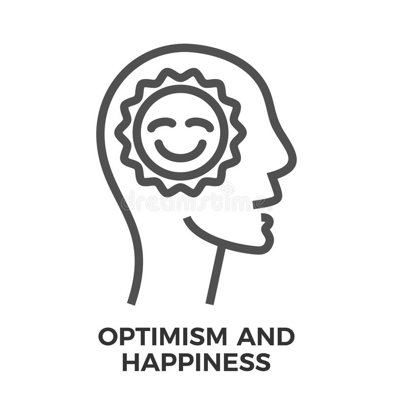 Optimisme en geluk royalty-vrije illustratie