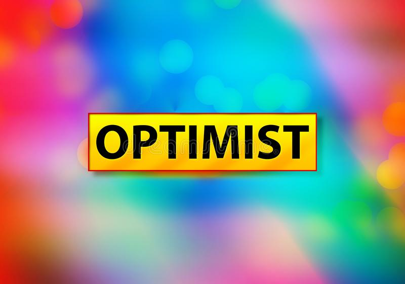Optimist Abstract Colorful Background Bokeh Design Illustration. Optimist Isolated on Yellow Banner Abstract Colorful Background Bokeh Design Illustration stock illustration