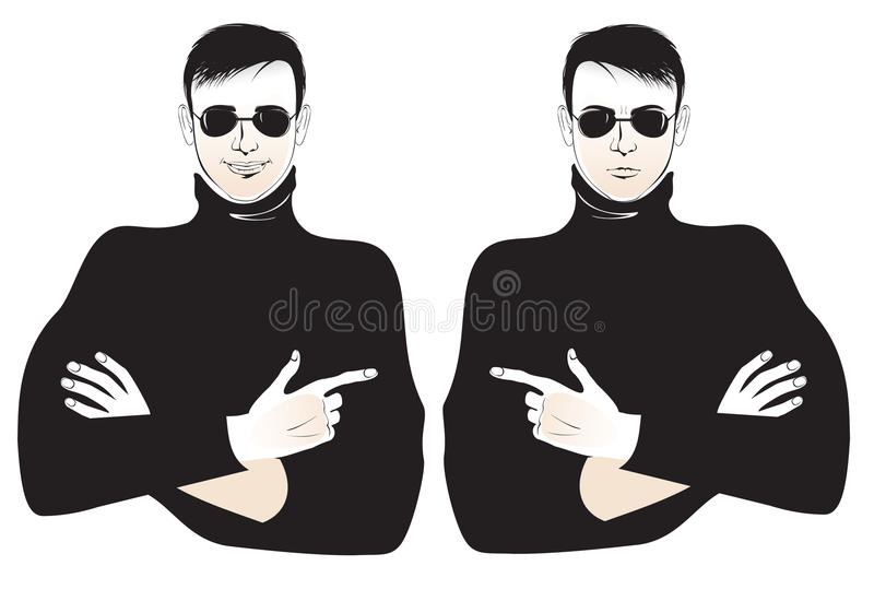 Download Optimist and pessimist stock vector. Image of smile, security - 21389548