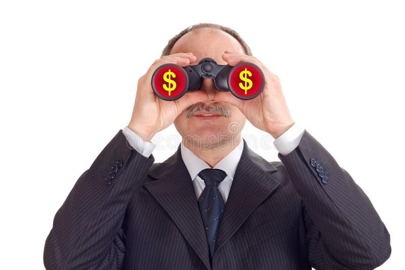 Optimistischer Geschäftsmann stockfoto