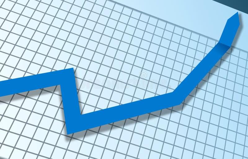 Optimistisches Diagramm lizenzfreie stockfotografie